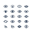 human eye supervision and view symbols looking vector image vector image