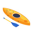 isometric kayak boat icon vector image