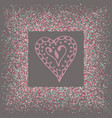 love background pink heart shapes texture pattern vector image vector image