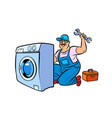 master repair washing machine vector image