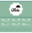 menu restaurant kitchen icon graphic vector image vector image