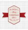 merry christmas greeting badge vector image vector image