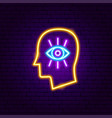 mind vision neon sign vector image