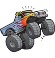 Monster Truck Jumping vector image vector image