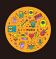 music poster rock festival flyer vector image