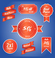 offer sale price tagpromotion vector image vector image