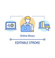online library concept icon digital bookstore vector image vector image