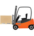orange forklift vector image vector image