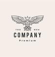 owl king monoline hipster vintage logo icon vector image