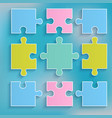 parts of multi-colored puzzles vector image vector image