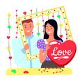 photoshoot lovers romantic day wedding vector image vector image