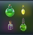 poison bottles set vector image