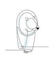 polar bear continuous line vector image vector image