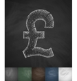 pound icon Hand drawn vector image vector image