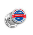 presidents day buttonbadgebanner isolated vector image vector image