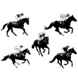 racing horses and jockeys 2 vector image