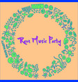 rave music party event hand-drawn elements vector image vector image