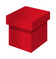 red box icon cartoon style vector image