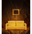 retro interior with couch vector image