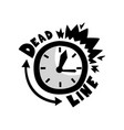 ringing alarm clock deadline punctuality time vector image vector image