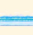 riverbank game background flat landscape vector image vector image