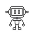 robot icon simple car sign vector image