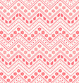 Seamless pattern Red flowers leaves and lines vector image vector image