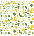 seamless pattern with leaves bright spring print vector image vector image