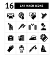Set icons of car wash vector image vector image