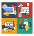 Set of concept for finance marketing web design vector image vector image
