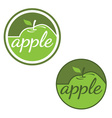 Set of labels with apples vector image