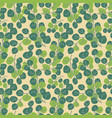 spring seamless pattern with young foliage vector image vector image