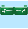 Stress or relax vector image vector image