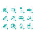 stylized shop food and drink icons 2 vector image vector image