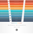 template infographic Colour strips 9 position vector image vector image