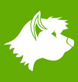terrier dog icon green vector image vector image