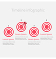 Timeline Infographic four step round circle target vector image