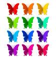 twelve colored paper butterflies vector image