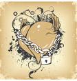 vintage heart vector image vector image