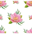 Watercolor seamless pattern of exotic flowers vector image vector image