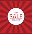 sale label on red background vector image