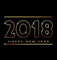 2018 happy new year banner khokhloma vector image vector image