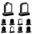 3d tombstone black symbol vector image vector image
