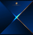abstract background blue geometric triangles vector image