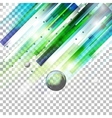 Abstract green shapes on transparent vector image vector image