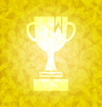 Award on gold dazzled triangle background vector image vector image