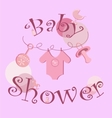 background - baby icons set vector image vector image