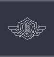 bitcoin logo the concept of protection editable vector image vector image