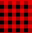 black and red tartan plaid scottish seamless vector image