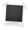 Blank retro photo frame over white background vector image vector image